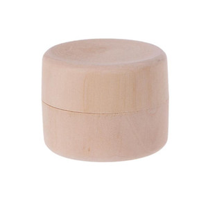 2021 Small Round Wooden Storage Boxes Ring Box Vintage decorative Natural Craft Jewelry box Case Wedding Accessories