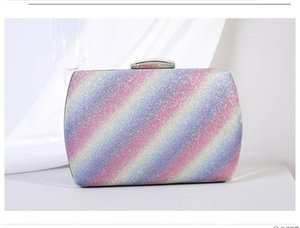 New Style Dinner Bag Korean Fashion Gradient Rainbow Print Clutch Bag Female Small Handbag Messenger Bags