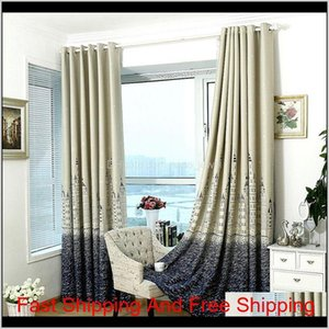 Window Treatment Castle Modern Curtains Silver Stamping Heavy Thick Blackout Curtain Living Room Bedroom Insulation Curtain Home Decor Pbvcz