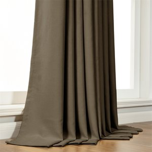 Modern Blackout Curtain for Living Room Bedroom Curtain for Window Treatment Drapes Solid Blackout Curtain Finished Blinds 210831
