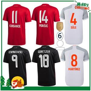 20 21 Bayern Coutinho Vidal Lewandowski Muller Robben Sule Sule Munich Sane Home Soccer Jerseys 2020 Adulte Hommes + Kit Kit Chemise de football sportif