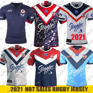 2021 Australia Sydney Rooster Rugby Jersey Mens Replica Indígena Rugby Jersey NRL Liga de Rugby Jerseys S-5