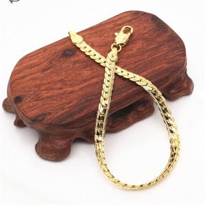 Clássicos elegante real 24k ouro amarelo gf homens mulher colar bracelete jóias conjuntos de cadeia sólida resistente à abrasão de corrente 24 T2