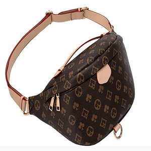 Wholesale New Fashion Pu Leather Brown flower Handbags Women Bags Designer Fanny Packs Famous Waist Bags Handbag Lady Belt Chest bag