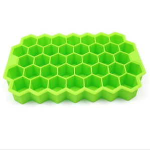 Silicone Molds Food Grade Silicone Ice Cube Mold Honeycomb Lattice 37 Holes Ice Cream Tools Ice Cube TraysJelly Homemade Mould GWC6540