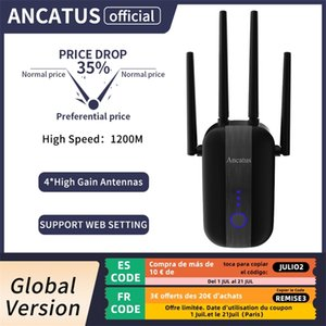 ANCATUS A2 1200Mbps 2.4G 5GHz Wireless Extender 802.11ac Wifi Repeater Powerful Wi-Fi Router Long Range Wlan WiFi Amplifier 210918
