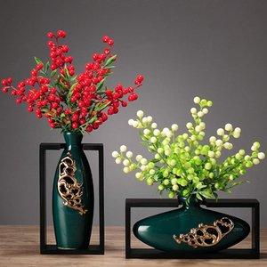 Vase en céramique chinois Art Rétro Petits ornements Accueil Prestige Dining Table Vase Décoracion Hogar Salon Decor DA60HP