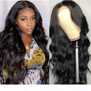 13X4 Lace Front Wigs For Women Remy Hair Malaysian 150% Density 360 Body Wave Lace Front Pre Plucked Wig With Natural Hairline