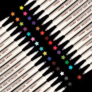 30 ألوان ميتاليك ماركر أقلام للزجاج الطلاء الصخرة اللوحة الحجر بطاقة ديي صنع البلاستيك الفخار الخشب المعدنية السطح