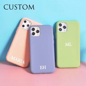 Custom Name Initials Letter for 11 Case 10 SE 8 Plus Silicone Phone Cover 12 Pro Max X XS XR 6 6s 7 Coque DIY Funda