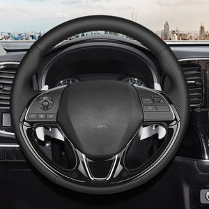 Car steering wheel Breathable Leather for Mitsubishi Outlander 2016 2017 2018 2019 ASX Eclipse Cross Custom made Steering cover