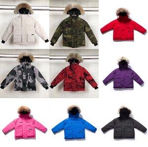 الأطفال أسفل معطف الشتاء سترة في الهواء الطلق الصبي فتاة الطفل قميص الدافئة سترة مقنعين الرياضية ستر كلاسيكي ساحة 10 أنماط 100-150