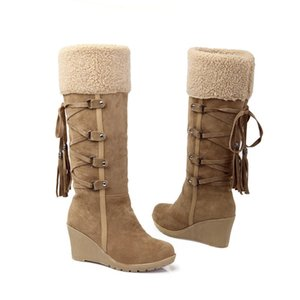 2021Casual plush winter high snow boots women shoes on the platform boots to the knee Non-slip shoes Thermal with cotton padding Shoes
