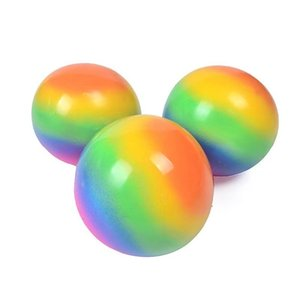 Squeezy Rainbow Vent Ball Squish Squeeze Stress Balls 7cm Rubber Ball Stressball Anxiety Stress Relief Autism Fidget Toys HH3201