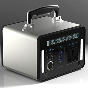 220V 500W Solar Power Station Portable Battery Power Generator DC15V 2A Fast Charge DC USB Type-C Car Cigarette Lighter Charge