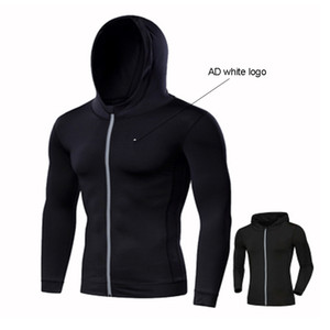 spring autumn 2021 Fashion fitness sports jacket men's reflective hooded zipper jacket outdoor running trapeze fitness training hoodies