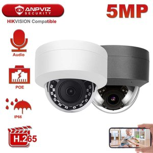 Anpviz 5MP POE Security IP Camera Outdoor Hikvision Compatible H.265 Microphone One-way Audio Onvif IP Camera IP66 IR 30m H0901