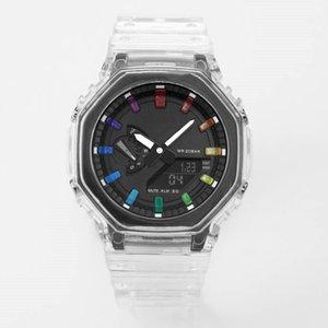 Sports Quartz Digital 2100 Men's Watch LED Digital Dual Display High Quality Small Hands Can Work