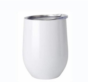 Sublimation DIY Tumbler Egg Shaped Thermos Double Walled Stainless Steel Thermos Vacuum Insulated Cups Tumbler 12oz Wine Tumbler SEA DDC5480