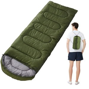 Camping Sleeping Bag, Lightweight 4 Season Warm & Cold Envelope Backpacking Sleeping Bag for Outdoor Traveling Hiking GWD5104