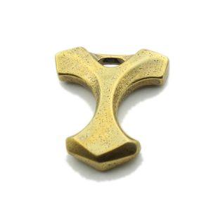 10mm Handmade Brass Brass Brass Brecchino Catena chiave Knuckles DA TE Pendant Uomo Gioca a Glass Breaker Accessori per esterni Survival Autodifesa EDC 14 Z2