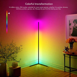 Floor Lamps 1.45m Modern LED Lamp RGB Light Colorful For Living Room Atmosphere Indoor Lighting Corner