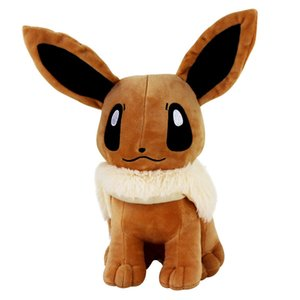"12"" 30cm Big Sitting Eevee Plush Toys Soft Stuffed Animals Toy Gift Plush Dolls For Kids Baby Gift Toys LJ201126"