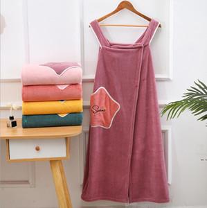 Magic Bath Towel Lady Girl SPA Shower Towels Body Wrap Bath Robe Beach Dress Wearable Magic Towel Bath Skirt Beach Bathrobes HWE4819