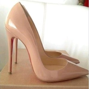 With Box Genuine leather 2020 Spring and Autumn New Stiletto Heel Women's Shoes High Heels Red Bottom Shoes 8cm 10cm 12cm Classic High Heel Women Pumps