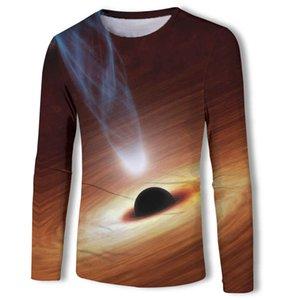 Spring and Autumn Fashion Universe Star Men's Long Sleeve T-shirt 3d Digital Printing