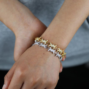 2021 Unique Design Twisted Rattan charm Bracelet Bangles with clear CZ Paved for Women Luxury Gifts Fashion wholesale Jewelry
