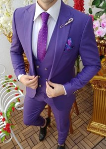 New Style Groomsmen Peak Lapel Groom Tuxedos One Button Men Suits Wedding Prom Dinner Best Man Blazer ( Jacket+Pants+Tie+Vest ) K957
