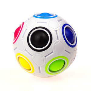 Magic Rainbow Puzzle Ball Speed Cube Ball Puzzle Game Fun Stress Reliever Magic Ball Brain Teaser Fidget Toys for Children Kid Teens Adults
