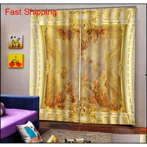 Soundproof Windproof Curtain European 3d Curtains Angel Design Curtains For Living Room Bedroom jllctk jjxh