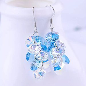 BAFFIN Crystals From Swarovski Boho Tassel Colorful Beads Drop Earrings For Women Silver Color Pendientes Party Accessories