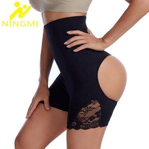 Women's Shapers NINGMI Body Shaper Control Panties Women Sexy BuLifter Panty Slimming Underwear Slim High Waist Shapewear Shorts