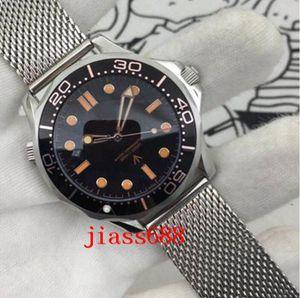 Diver 300M 007 Edition Mens Смотреть Нет времени, чтобы умирать Мастер Автоматическое механическое движение Нержавеющая сталь Спортивные мужские наручные часы