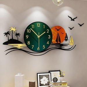 Acrylic wall clocks modern design Home decor 3D wall clock stickers Living room decoration digital clock my melody
