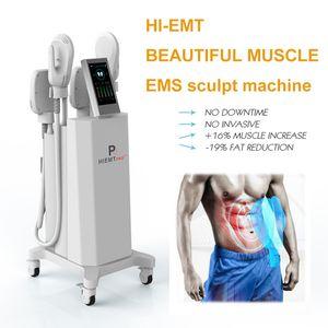 New arrivals 4 handles ems sculpt machine muscle stimulator emslim body slimming machine 7 Tesla emslim free shippment 2 years warranty