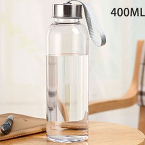 400ml Outdoor Sports Portable Water Bottles Transparent Round Leakproof Travel Carrying for Water Bottle Studen Drinkware DHL