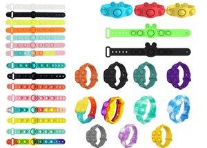 Relieve Autism Wrist watch Toy To 5 different styles of bracelets Fidget Stress Toys Push Bubble Antistress Children Sensory Gift