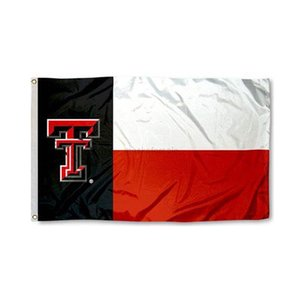 With University Red Raiders Texas Texas State Tech Flag NCAA Team Flag 3x5Ft Double Stitched Banner 90x150cm Sports Fest7BCD