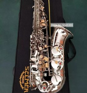 MARK VI Classic Model Alto Eb Tune Saxophone Nickel Plated E Flat Sax With Case Mouthpiece Reeds Straps Professional