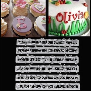 Russian Letters Kitchen 6PCS SET Large Fondant Plastic Alphabet Letter Number Mold Cake Decorating Tools Baking Cookie Cutter