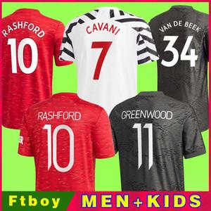 2021 UTD VAN de Beek Greenwood B.fernandes Rashford футбол футбол футбол футболка 20 21 человек + детский комплект