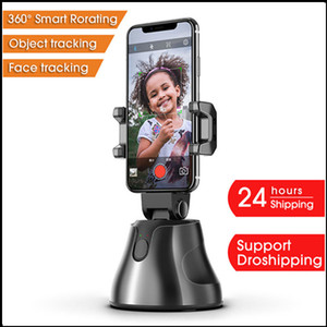 New Arrival Portable 360 Object Tracking Holder Smart Shooting Auto Face Genie Phone Selfie Stick Camera Phone Holder Free Shipping