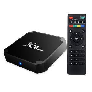 X96 مصغرة أندرويد 9.0 صندوق التلفزيون رباعية النواة 2 جيجابايت 16 جيجابايت amlogic S905W مشغل الوسائط الذكية أعلى مربعات