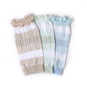 Baby Summer Mince Mesh Bouffon néonatal Enfants Coton Mesh Crawling Anti-Mosquito Relent Climatisation Chaussettes Chaussettes Tampons genoubles elbow1