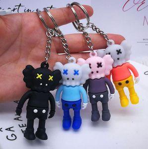 Kaws Doll Designer Keyring Keychain New Fashion Sesame Street Key Chain Accessories PVC Action Figures Toys Bag Charms Car Key Rings Holder