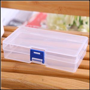 Portatile Piccoli scatole di immagazzinaggio di monili di plastica trasparente perline artigianato custodia contenitori maschera box scatola di plastica